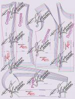 Рисунок выкроек лекал для жакета своими руками в стиле Шанель