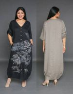 Сшитое платье рубашка бохо по выкройке вид спереди и сзади