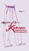 Бесплатная выкройка детских школьных брюк 34-42 в натуральную величину рис 1