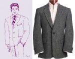 Основа пиджака (мужского) с английским воротником. рис1