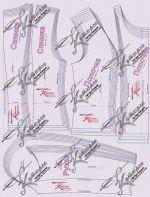 готовая выкройка жакета Шанель в натуральную величину 40-62 вид