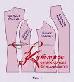 Выкройка «жилета с опушкой» 42-62 в натуральную величину 1