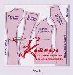Готовая выкройка «жилета с опушкой» 42-62 в натуральную величину 4