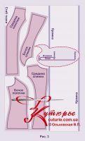 Готовая выкройка «жилета с опушкой» 42-62 в натуральную величину 5