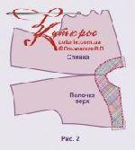 Выкройка платья-кокон с рельефами 40-64 рис2