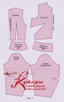 уменьшенная выкройка женского костюма (блузы и юбки) 50-52 размера, часть 2