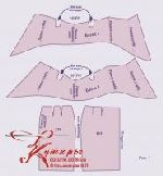 Выкройка юбки-карандаша с баской 40-52 рис1