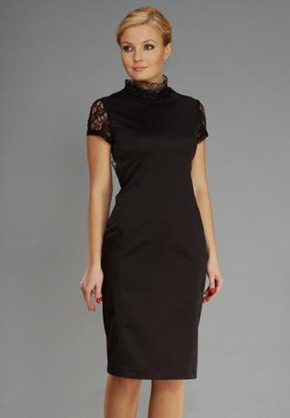 Для поклонниц романического стиля дизайнеры приготовили модели длинных черных платьев-2015 свободного силуэта. Их очарование кроется в сочетании очень