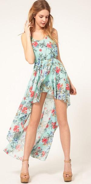 выкройка платья с перепадом длины юбки 42-52 | Выкройки платьев
