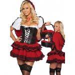 костюм Красной Шапочки для взрослых 40-56 - Костюм Красной шапочки для взрослых состоит из пелерины с капюшоном, блузы, корсета и юбки.