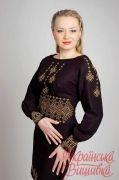 Выкройка платья реглан 42-62 - Уровень сложности пошива: простой. Данная модель – это «маленькое черное платье» по-украински. Идеально подходит для  вышиванки.