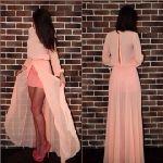 Выкройка платья «Персик» 42-56 - Уровень сложности пошива: простой. Эта выкройка платья 2014 года. Модель подходит стройным девушкам и молодым дамам средней полноты. В дальнейшем описании даны рисунки и видео уроки по раскрою и пошиву…