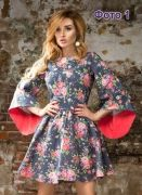 Платье «татьянка рукав c перепадом  длины» 42-62 - Уровень сложности пошива: простой.  Данная выкройка платья подходит для полных и стройных. Потребуются навыки  вмётывания рукава, обработки горловину и проведения примерки...