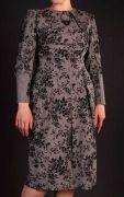 выкройка «платья со складами из горловины и на юбке» 42-50