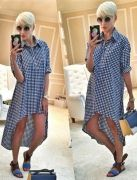 Выкройка «платье-рубашка с перепадом длины»  40-62 - Уровень сложности шитья: простой – выкройка для начинающих, освоивших юбку. Рукав  беспосадочный и втачивается легко. Фасон подходит для всех типов фигур любой полноты и роста.