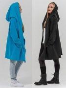 Выкройка «пальто с капюшоном для начинающих» 40-62 - Эта выкройка пальто для начинающих.  Этот фасон пальто подходит для всех типов фигур и для обоих полов, не имеет застёжки, подклада, подборта и может носиться с поясом и без...