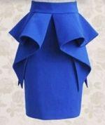 Выкройка юбки-карандаша с баской 40-52 - Уровень сложности шитья: средний – выкройка рассчитана на кутюрье, имеющих навыки кроя и шитья...