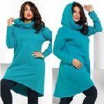 Выкройка «платья-трапеции цельнокроеного худи» 40-62