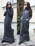 Выкройка платья «кокон» с карманами 40-52