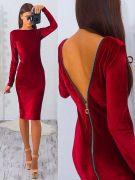 Выкройки платьев «стретч-футляры с открытой спиной» 40-54