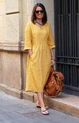 Платье трапеция бохо с рельефом