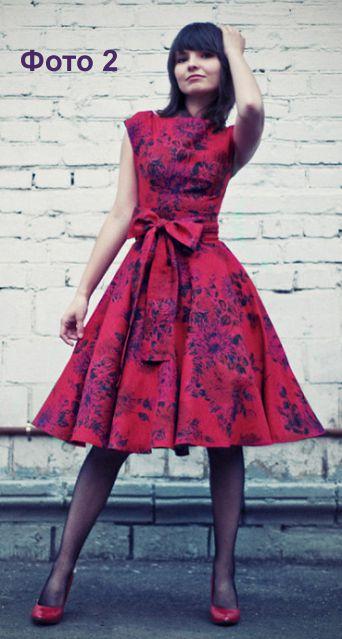 Платье женское со спущенным рукавом крой