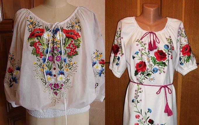 Платье вышиванка выкройка