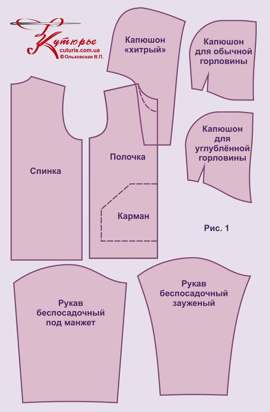af937acc Электронная выкройка «толстовки», «худи» и «бомбера» (унисекс)