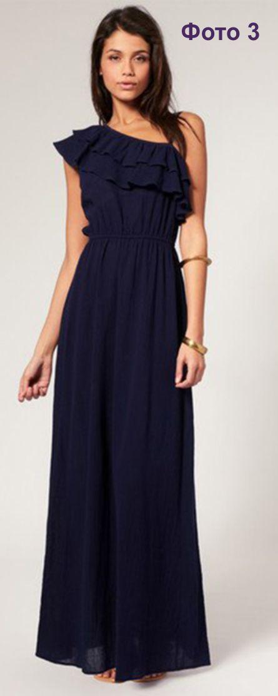 Женское платье на одно плечо выкройка