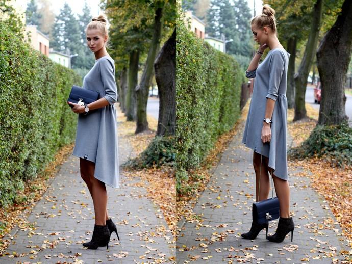 Платье-трапеция с отрезной спинкой
