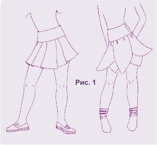 юбки для девочки крой: