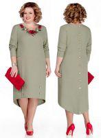 Прямое платье по большой выкройке в натуральную величину