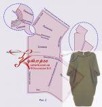 Комплект лекал и выбор размера большой выкройке для полных платья кокон