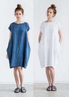 Выкройка платья «кокон объёмное» 40-64 фото1