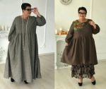 Платье бохо с оборкой больших размеров для полных