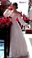Сшитое отрезное платье из тонкого стретча фото
