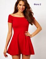 Платье из стретча с короткой юбкой фото