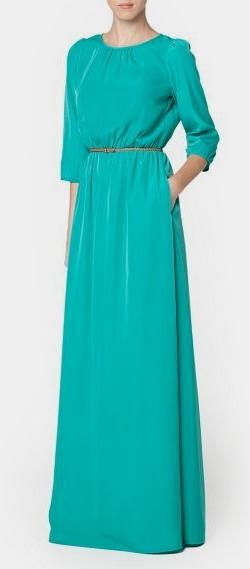 Скачать выкройку платья в пол с рукавами