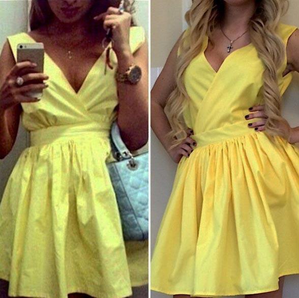 Платье с запахом солнце