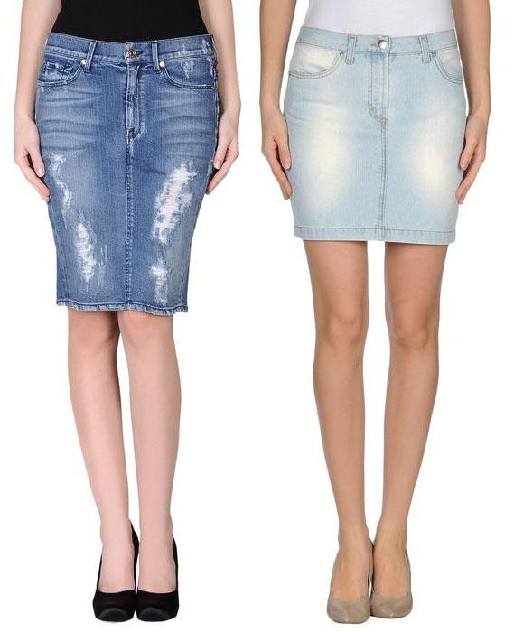 Выкройка джинсовой юбки с карманами.