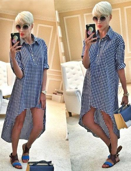 Платье рубашка из какой ткани сшить