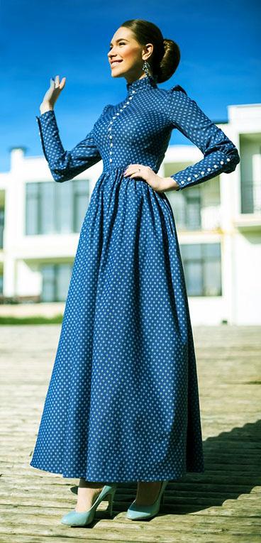 Платье в татьянку для полных