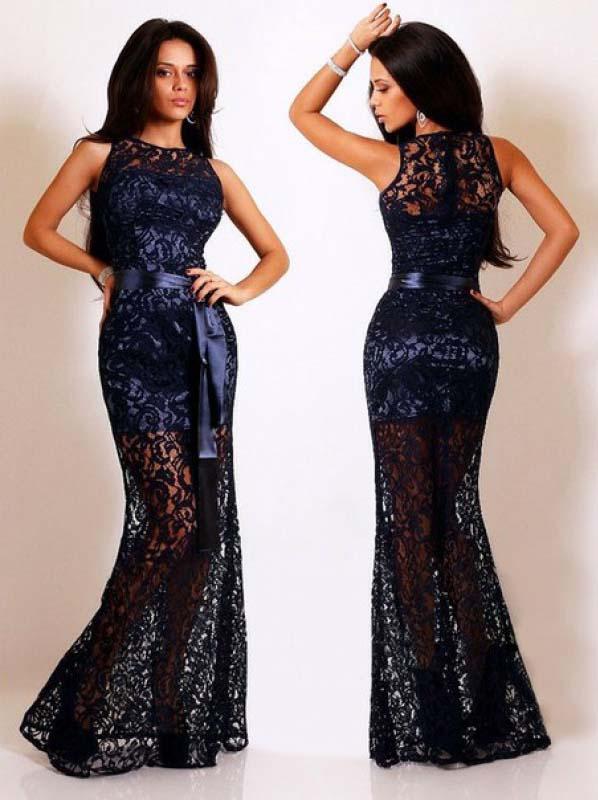 Вечерние платья из гипюра с выкройками