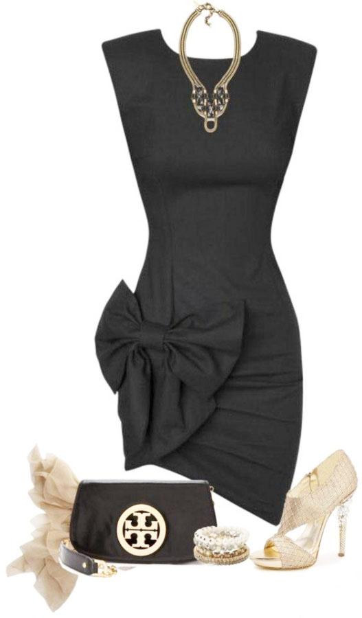 78c99d5b1e7 Выкройка «маленького черного платья с бантом»