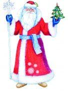 Выкройка шубы Деда Мороза