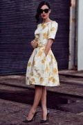 Выкройка платья отрезного рукав со складками или вытачкой