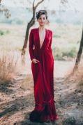 Выкройки длинного платья в пол с вырезом, с запахом или без запаха