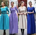 Выкройка «платье татьянка с отложным воротником»