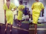 Выкройка «платья отрезного с открытой спиной и сборкой»