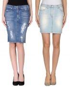 Выкройка юбки «джинсовая классика» - Размеры: 40-52 и 52-62. Уровень сложности шитья: простой – выкройка для начинающих, которые сшили уже пару изделий. Эта модель идеально подходит для тренировочного периода, так как содержит два вида простых карманов, застёжку по типу брючной и шлицу.